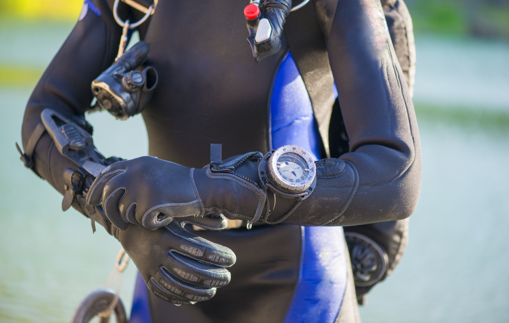 Woman in wetsuit